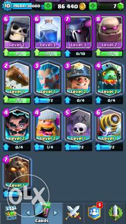 Clash royale arena 10 account