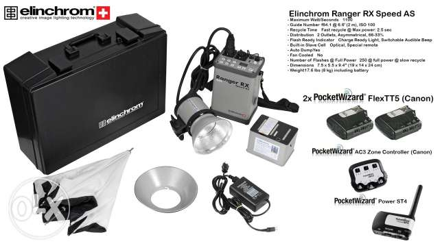 Elinchrom portable studio flash for canon