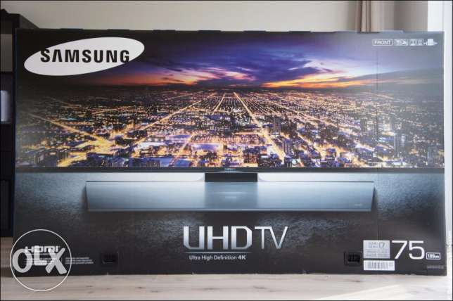 Samsung 75 inch UHD Smart Curved TV new and original