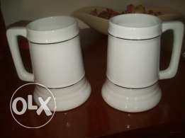 mugs for sale, size1 liter, white porcelain material.