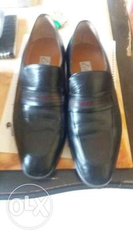 Filini hand made size 40& 1/2 leather shoes New condition