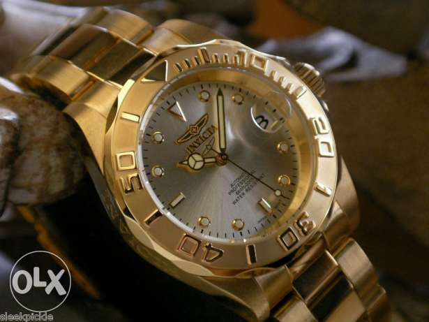 invicta 24k gold automatic watch