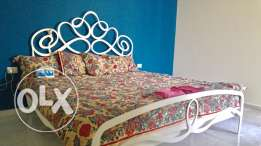 Decorative steel bed by Decofer
