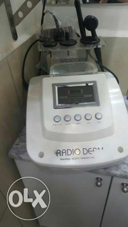 crystal for face and radio derm lazer for netoyage