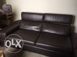 "Salon - Leather ""L"" shape sofa (3 pieces)"
