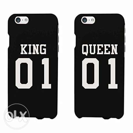 King Queen case for iphones 6 / 6s / and 7 valentine gift