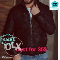 leather jacket Available in black, navy, beige