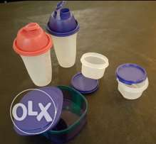 Real Tapperware new. 5 pieces with their covers. 40$only