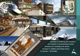 Architectural Services:3Dmax-Lumion-photoshop Courses&Projrcts