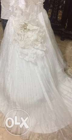 wedding dress excellent condition عرمون -  2