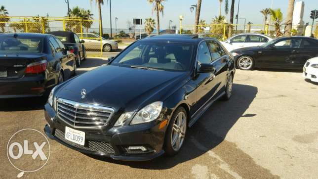 Mercedes Benz E 350 luxury package Amg kit ajnabieh like new تقسيط بنك