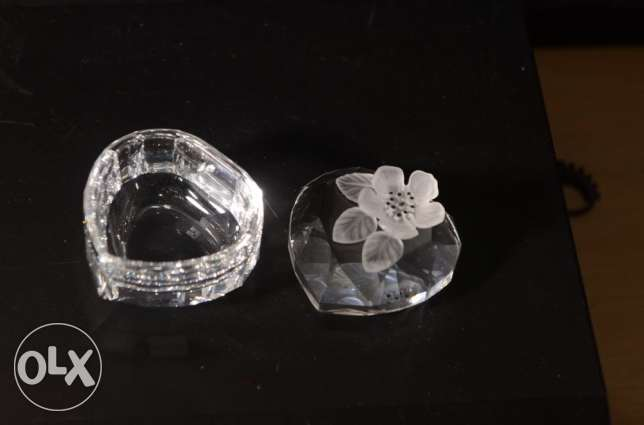 Exquisite Retired Swarovski Silver Crystal heart Flower Treasure Box