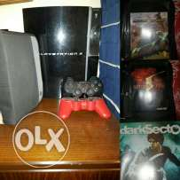PS3 for sale with 12 original video games and 2 controllers