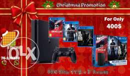 Christmas offer: PS4 Slim 1TB + 3 New Games