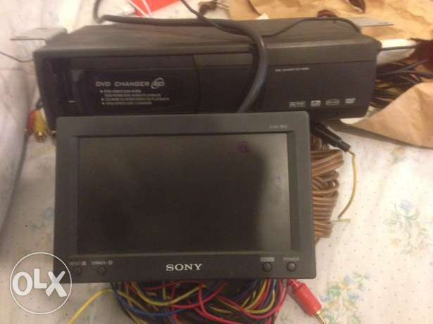 Sony disk changer and monitor