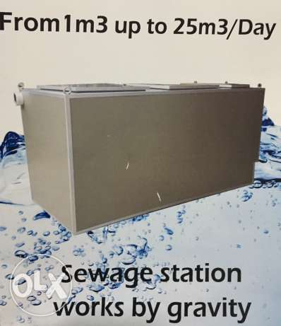 sewage station for building of 10 apartments