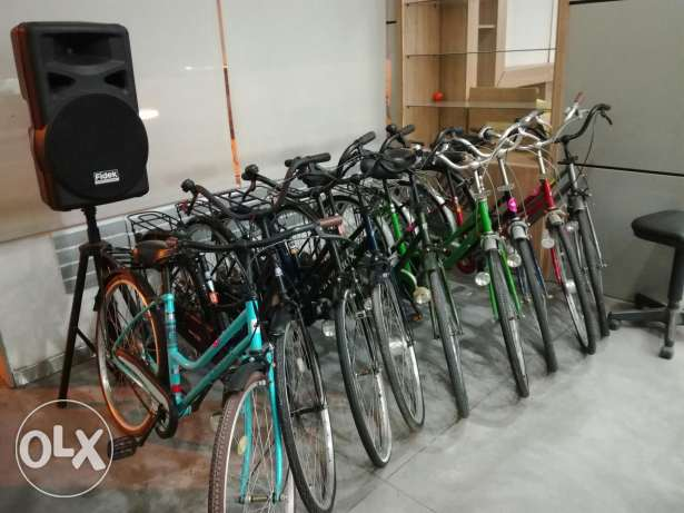 Rent bicycles city bikes collection