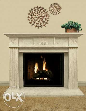 Chimney - fireplace natural stone