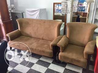 brown salon leather