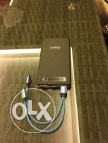 External battery can recharge up to 3 times. Used 1 month only