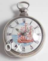 Rear VERGE FUSEE Silver Case Pocket Watch for soirees payers