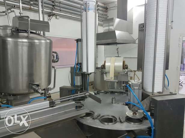 Filling sealling and closing machine