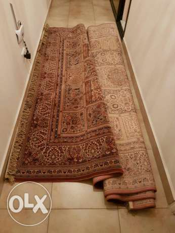 2 whool twin carpets 2.5m x3.5m