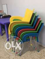 Plastic chair. All 6 for a good price!!!