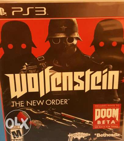 Wolfenstein the new order ps3 game مكلس -  1