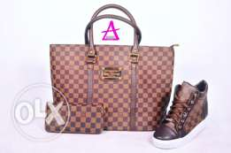 bag shoes and wallet