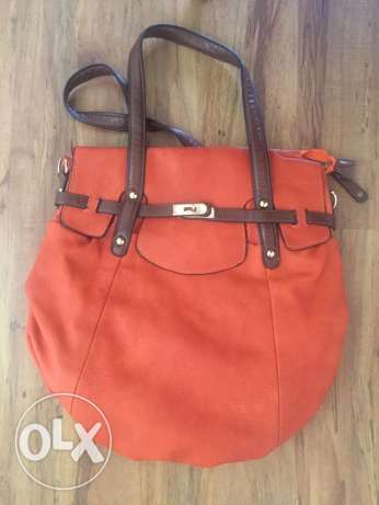 bag orange with brown