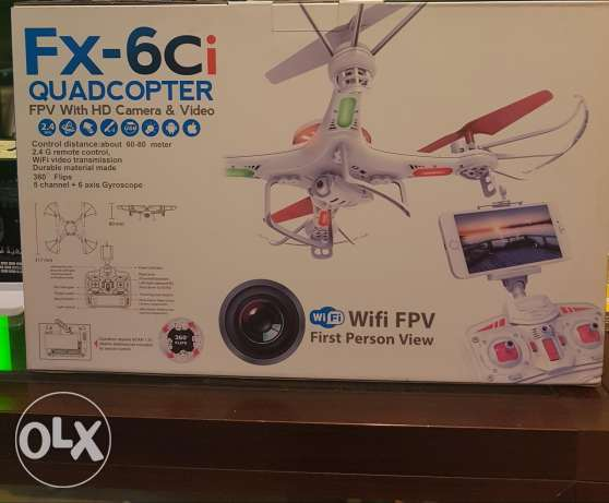 Fx 6ci helicopter and camera