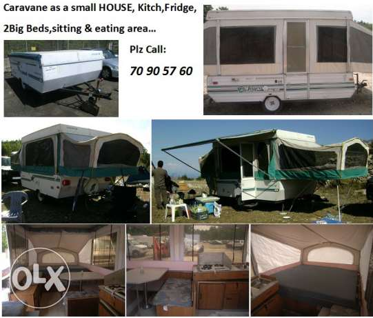 caravan as small house, fully equiped