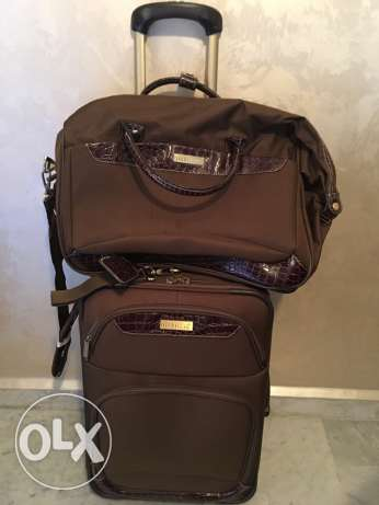 "Nicole Miller carry-on 20"" with handbag"