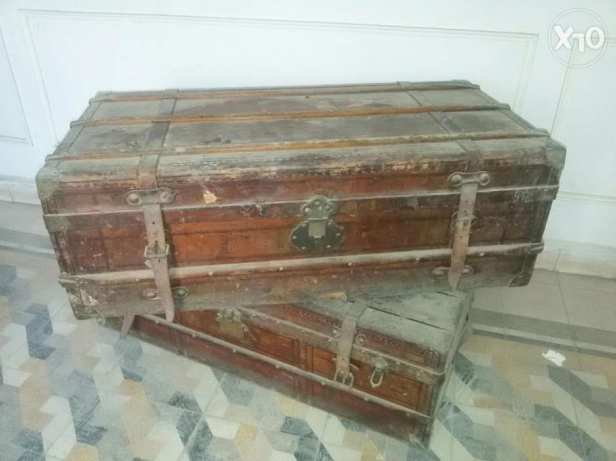 Large Antique Suitcases
