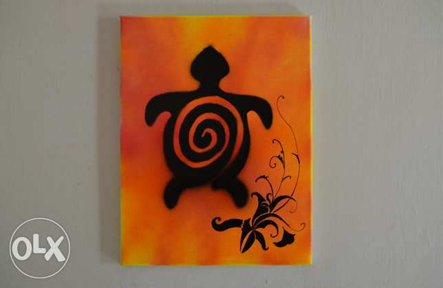 Turtle Painting Hawaiian Wall Decoration