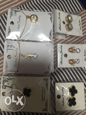 necklace and earings branded غبيري -  2