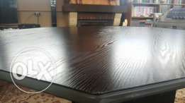 Black table for office or salon