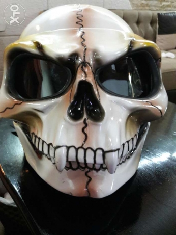 Ghost rider inspired 3D Airbrushed Skull Helmet