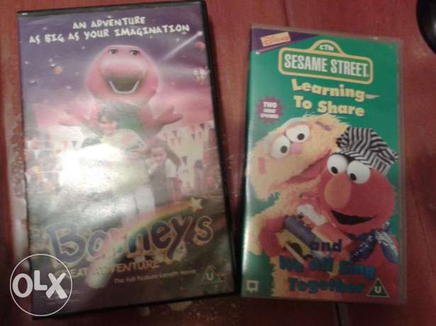 barney the dinosore & seasame street original vhs