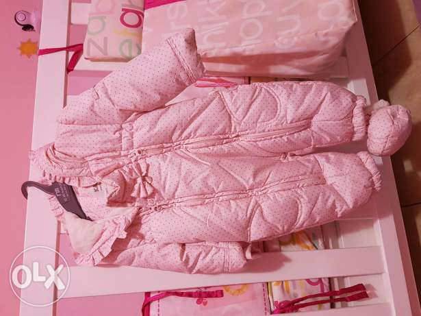 New Girl pink overall jacket
