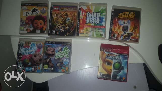 7 games for ps3 each 10$