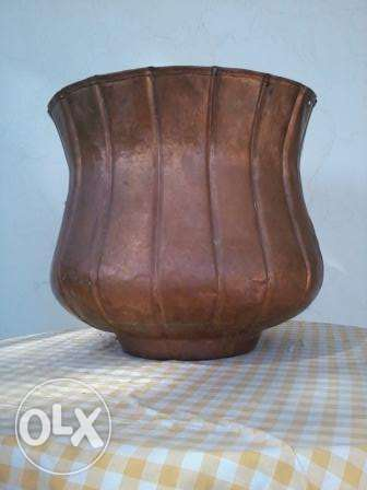 Old big Vase, red copper, hand made, from Germany, 45cm, 25$