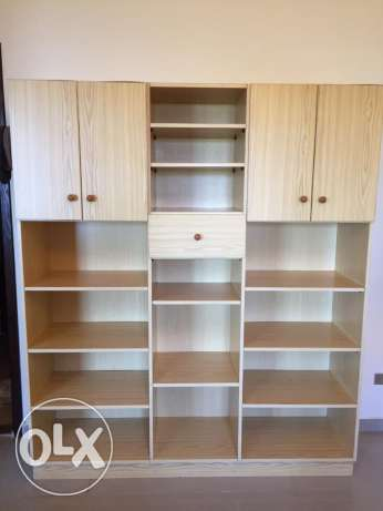 large cupboard & shelves unit