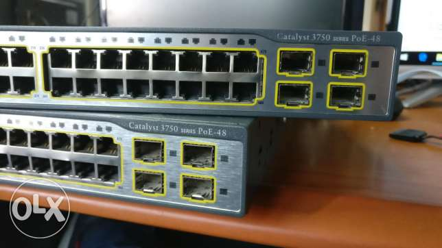 Cisco poe switch 48 ports series​ 3750
