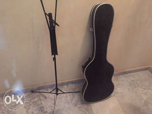 electric guitar hard case +stand