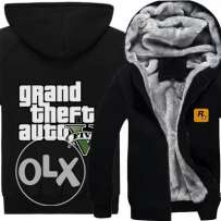 GTA V winter thick jacket HOODIE 100%COTTON