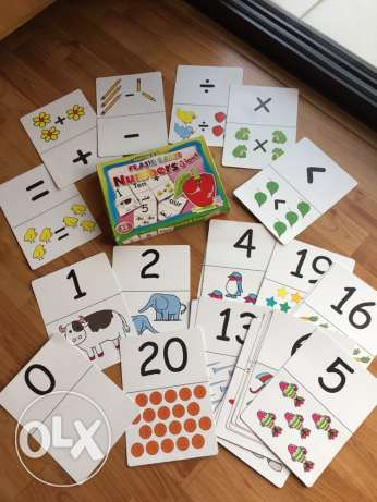 giant flash cards numbers & Arabic alphabet 3-5 years