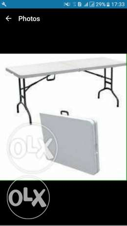 Brand new table. Can be folded. 90$