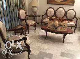 Salon+dining room antique 14 stlouisyle very good condition and price